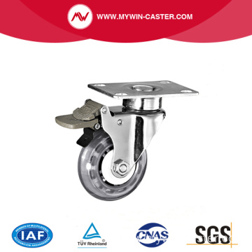 Three Inch Plate PU Medical Caster